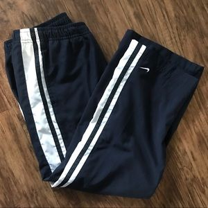Nike Running Pants Lined Striped Medium 8-10